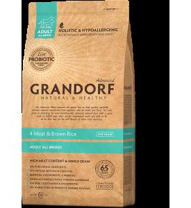 Grandorf, Adult, сухой корм д/собак всех пород (4 вида мяса/рис)