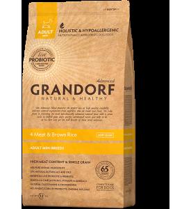 Grandorf, Mini, сухой корм д/собак мелких пород (4 вида мяса/рис)