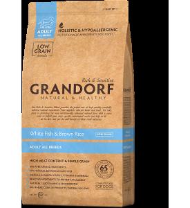 Grandorf, Adult, сухой корм д/собак всех пород (рыба/рис)