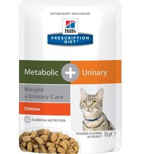 Hill's, PD, Meta+, влажный корм д/кошек коррекция веса + МКБ