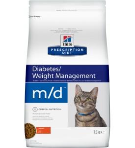 Hill's, PD, M/D, корм д/кошек при диабете и лишнем весе