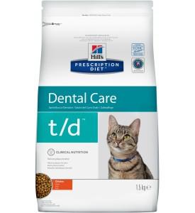 Hill's, PD, T/D, корм д/кошек профилактика налета и зубного камня
