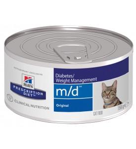 Hill's, PD, M/D, влажный корм д/кошек при диабете, коррекция веса