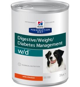 Hill's, PD, W/D, влажный корм д/собак при диабете