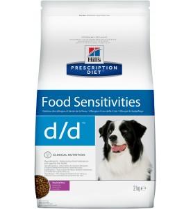 Hill's, PD, D/D, корм д/собак при аллергии (утка/рис)
