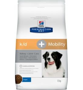 Hill's, PD, K/D+Mobility, корм д/собак заболевания почек + суставы