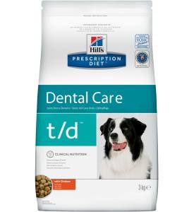 Hill's, PD, T/D, корм д/собак профилактика зубного камня и налета