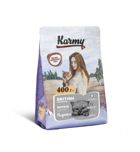 Karmy, British Kitten, корм д/котят Британской породы (Индейка)