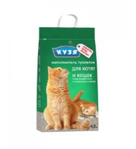 Кузя, наполнитель минеральный д/туалета д/кошек (мелкий)