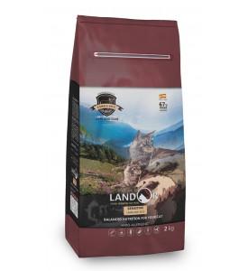 Landor, Sensitive, корм д/кошек чувствит. пищев. (ягненок/рис)