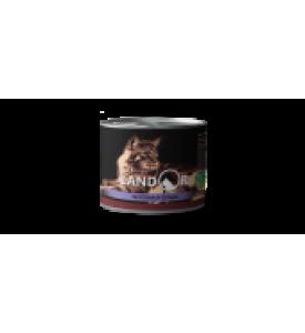 Landor, Senior, влажный корм д/пожилых кошек (телятина/сельдь)