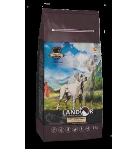 Landor, Puppy, корм д/щенков крупных пород (ягненок/рис)