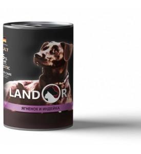 Landor, Adult, влажный корм д/собак (ягненок/индейка)