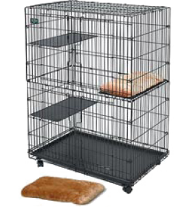 MidWest, Cat Playpens, клетка д/кошек черная (90х59х121 см.)