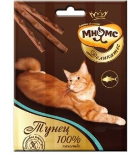 Мнямс, Деликатес, лакомые палочки д/кошек (тунец)