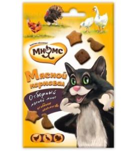 """Мнямс, """"Мясной карнавал"""" д/кошек (утка, индейка, курица)"""