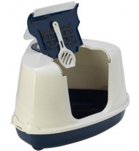 Moderna, био-туалет угловой Flip Corner, 55x45x38h см с совком для кошек