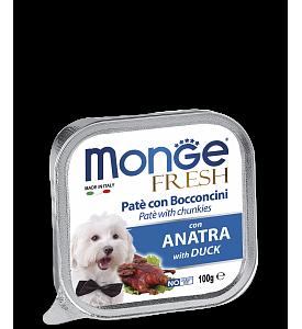 Monge, Fresh, влажный корм д/собак (утка)