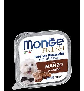 Monge, Fresh, влажный корм д/собак (говядина)