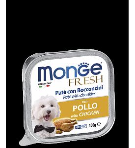 Monge, Fresh, влажный корм д/собак (курица)