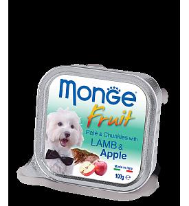 Monge, Fruit, влажный корм д/собак (ягненок/яблоко)
