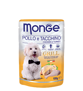 Monge, Grill, влажный корм д/собак (курица/индейка)