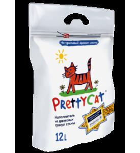 PrettyCat, Wood Granules, наполнитель древесный д/котят