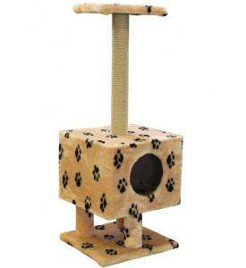 """Пушок, когтеточка д/кошки Домик """"квадратный на подставке"""" с когтеточкой"""