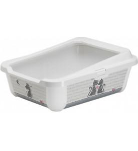 Moderna, Hercules туалет для кошек с бортиком (50х39.5х37.5 см.)