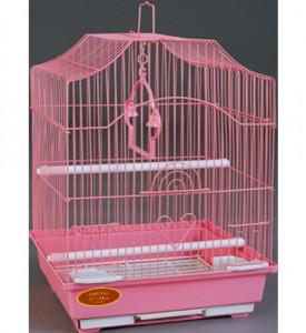 Золотая клетка, Малая Фигурная крыша для птиц, эмаль (30х23х39 см.)