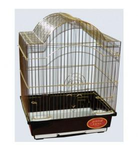 Золотая клетка, Малая Фигурная крыша для птиц,золото  (30х23х39 см.)