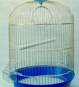 Золотая клетка, Малая круглая для птиц, золото (33х53 см.)