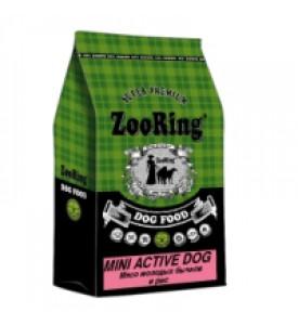 ZooRing, Mini Active Dog, корм д/собак мини пород (бычок/рис)