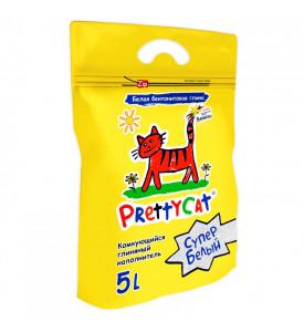 PrettyCat, Супер Белый, наполнитель комкующ.д/кошач. туалетов
