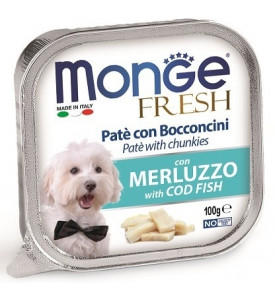 Monge, Fresh, влажный корм д/собак (треска)