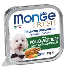 Monge, Fresh, влажный корм д/собак (курица/овощи)